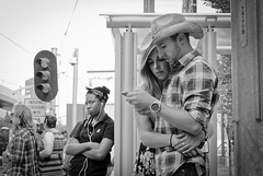 Love and Stampede (jacques.raymond10) Tags: love affection couple attitude bw calgary alberta canada stampede