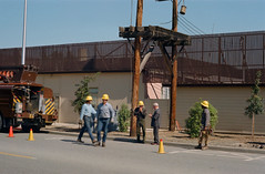 Laurel Street/SRI transformer (menloparkplanning) Tags: menlopark sanmateocounty california publicworks scannedphoto historicalphoto historical laurelstreet sri transformer