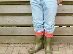 DUNLOP  Purofort  olijf  026 (stevelman14) Tags: dunlop purofort olijfgroenrood laarzen rodebinnenkant kortomgeslagen schoon nieuw poseren outdoor