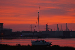 Calshot Sunset (clare.blandford) Tags: sunset hampshire calshot beach southamptonwater