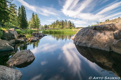 Mirror (ArthurXi) Tags: long exposure river water mirror summer koiteli finland sony a77m2 1118mm wide angle haida nd1000
