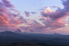 Three Sisters at Sunset (roe.nate) Tags: oregon unitedstates us sunset cloud mountains cascades landscape forest volcano pnw outdoor
