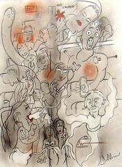 PAPA EST MORT...CET APRÈS-MIDI (Claude Bolduc) Tags: artsingulier drawing outsiderart visionaryart intuitiveart lowbrow artbrut surrealism