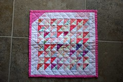 FO: Pink Scrappy HSTs (jaceycraft) Tags: gifts leftovers hsts scrappy pillow pink triangles