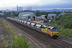Early morning, Leeds (DieselDude321) Tags: 70806 class 70 colas rail 6z48 1848 neath abbey wharf leeds stourton rmc freightliner midland road depot