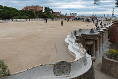 Park Güell, Barcelona (Maya Lucchitta) Tags: antonigaudí barcelona españa gaudi gaudí parkgüell spain bench mosaic tourists