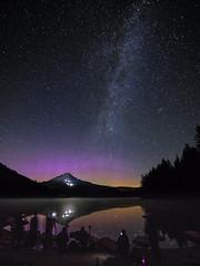 A little Banding (danredwing) Tags: auroraborealis mthood night northernlights stars trilliumlake