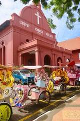 """The best tuck tucks I have ever seen are in Malacca/Melaka. So colorful and playing music all the time while touring. Love it 🌈  Malaysia  July 2017 #itravelanddance • <a style=""""font-size:0.8em;"""" href=""""http://www.flickr.com/photos/147943715@N05/35879342491/"""" target=""""_blank"""">View on Flickr</a>"""