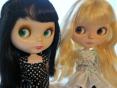 Kat with Darcy (``` November Rain ```) Tags: neoblythedoll allgoldinone moshimoshi sugarmountainart