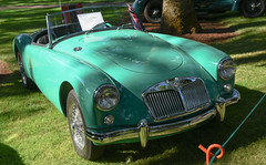 1957 MGA (faasdant) Tags: 45th annual forest grove concours delegance 2017 pacific university campus classic car automobile show exhibition 1957 mga light aqua roadster