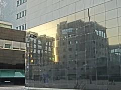 Specchio sul futuro. Milano (diegoavanzi) Tags: milano milan italia italy lombardia lombardy architettura architecture moderna modern alba dawn bicocca sony hx300 bridge hdr riflesso reflection
