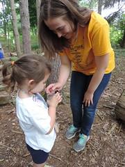 Crawlers and Sneaks 7/18-21/17 (Audubon Community Nature Center) Tags: underworld slug snail worm millipede log dead forest cit intern kids camp day