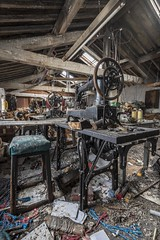 Sew what (Camera_Shy.) Tags: abandoned derelict exploration tresspassing disused urban mill exploring old machinery cotton weaving sewing machine singer industrial industry ue uk explorers rotten decay urbex decayed pigeon