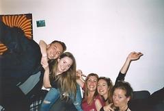 Nimp 5 (Justine Sla) Tags: party fête soirée night nimp toulouse bringue friends team nuit beer alcool alcohol smile rires memories souvenirs gaetan justine marie sandra clem argentique photo foto photographie pellicule pellicula film ricoh vintage