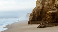 Sandstone and Mist (Kirk Lougheed) Tags: california pomponio pomponiobeach pomponiostatebeach sanmateocounty usa unitedstates coast ocean pacific pacificocean sea water mist