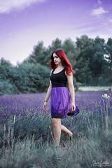 Lavande (clr_photographie) Tags: canon6d canonphotography redhair fantastic purplesky lavender