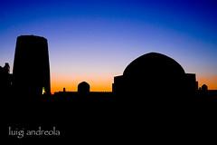 DSC07933 (do small things with great love) Tags: uzbekistan khiva minaret kaltaminor sunset
