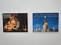 """Jeff Koons. Expo Centre Pompidou. Paris. 2015. 2 """"affiches publicitaires"""" Hennessy / Dewar's (fvib'r) Tags: jeffkoons affiches affichespublicitaires dewars hennessy cognac whisky"""