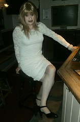Really Lovely to Wear (Amber :-)) Tags: white lace dress tgirl transvestite crossdressing