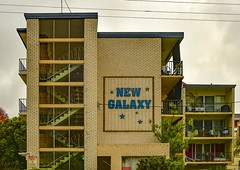 Coolangatta QLD (phunnyfotos) Tags: phunnyfotos australia queensland qld units flats apartments stair stairs newgalaxy lettering font typography text writing brick breezeblocks balcony accommodation residential coolangatta raining architecture building nikon stars creambrick brickwork