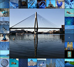 2017 Cool Blues  collage (dominotic) Tags: 2017 blue colourblues colorblue coolblue collage anzacbridge sydneyharbour cat pet bluesky notredame paris eiffeltower louvremuseum bondibeach bluebiscuit bluecake moon swimming australianflag sydneyharbourbridge bluemosaicpig blueriver pyramidedulouvre nature sydney australia