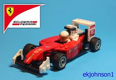 lego Kimi Raikkonen F1 (ekjohnson1) Tags: lego car f1 race formula grand prix kimi raikkonen 2017 ferrari scudiera british gp austrian monaco brazil moc bricklink parts snot tech detail