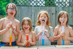 Colourful Tongues (Michael Muntz Photography) Tags: kids cute fun play outdoors boy girl freezie cool cold hot summer sun sticky outside young children