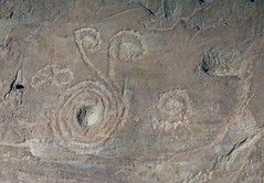 Petroglyphs / Chaco Culture NHP (Ron Wolf) Tags: anthropology archaeology chacoculturenationalhistoricalpark nationalpark connectedspirals petroglyph rockart spiral newmexico