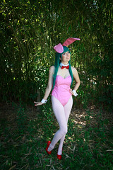 Invader Lum Bunny Cosplay (firecloak) Tags: invader lum bunny girl cosplay ears tights teal