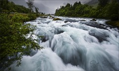 Melt Water (Sue Sayer) Tags: rapids olden norway melt glacier flow fast