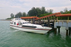 "Ferry from Singapore to the Nongsapura ferry terminal on the way to Turi Beach in Batam island. Indonesia  July 2017 #itravelanddance • <a style=""font-size:0.8em;"" href=""http://www.flickr.com/photos/147943715@N05/35959680506/"" target=""_blank"">View on Flickr</a>"