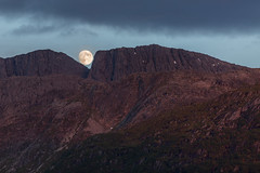 lunar landing (Marc McDermott) Tags: moon norway moonrise nature lunar clouds mountain perspective forced