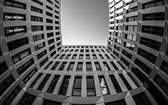 * U * (Blende1.8) Tags: wuppertal islandufer modern contemporary modernarchitecture modernearchitektur zeitgemäs line lines urban city architecture architektur gebäude building nrw carstenheyer wideangle fisheye walimex samyang 8mm sony alpha ilce6300