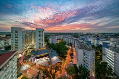 Yishun Sunset (Leslie Hui) Tags: hdb singapore cityscape sunset publichousing city