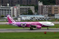 Peach JA816P (Howard_Pulling) Tags: fukuoka airport fuk fukairport japan japanese howardpulling