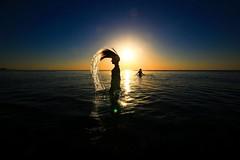 Mermaid (Lior. L) Tags: mermaid sea seascapes silhouettes art shadows sunset beach water hairflip telaviv telavivbeach sky