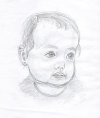 15:10:2016 1 (argargjuls) Tags: lápiz retrato bebé