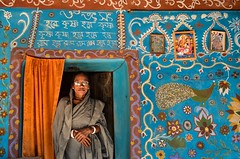 Woman with colorful home! (ashik mahmud 1847) Tags: bangladesh colorful d5100 nikkor design painting art portrait people woman home