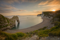 Durdle Door... [Explored July 19th 2017] (fearghal breathnach) Tags: durdledoor seascape seaarch dorset england landscape longexposure sunset wideangle