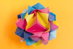 Lotus Crown Sonobe variation (12 units) (Brian Ritchie) Tags: lotuscrown mariasinayskaya sonobe modular origami variation
