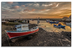Rising Tide (peterwilson71) Tags: sky sea sunset water boat travel ocean port shore seashore harbour watercraft redcar teeside canon6d