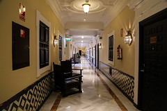 2017 SPM0193a Hallway outside our hotel room at Alfonso XIII hotel in Sevilla, Spain (teckman) Tags: 2017 europe hotel sevilla seville spain andalucía es