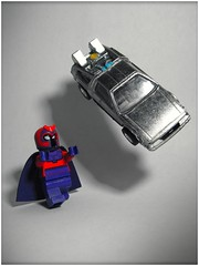 Magneto (LegoKlyph) Tags: lego custom marvel comic magneto xmen bttf back future delorean lift car hotwheels mini figure bricks blocks toys movies cartoon