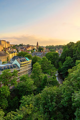 The village at sunset from Dean Bridge (MilesGrayPhotography (AnimalsBeforeHumans)) Tags: architecture a7ii sonya7ii 2870 britain blending bridge city cityscape dusk deanvillage edinburgh europe evening fe glow historic iconic ilce7m2 kirk landscape nd outdoors old photography portrait river rocks scotland skyline sky scenic sunset summer sony sonyfe2870mmf3556oss oss town twilight trees uk unitedkingdom auldreekie village villagearchitecture waterofleith waterfall