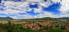 Panoramica su Avigliana e la pianura torinese (Madelung11) Tags: torino provinciaditorino italia italy avigliana lago panorama pano piemonte nuvole canon cloud sky