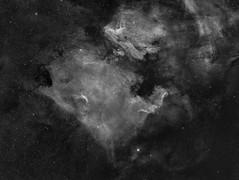 NGC7000 and surroundings on widefield Hα (Mosaic 3x3) (Carballada) Tags: astrophotography astronomy deep space astro celestron zwo as1600mmc skywatcher ts sky qhy qhy5iii174 narrowband astrometrydotnet:id=nova2208417 astrometrydotnet:status=solved