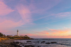 Red Sky (Estoy Viajando) Tags: lighthouse usa pigeonpoint ocean pacific california