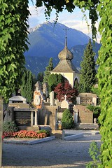 Gate to Bled Cemetery Slovenia