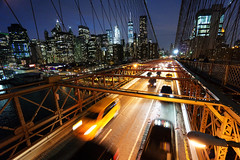 (Claire*Marsh) Tags: brooklynbridge nyc newyork usa bridge brooklyn manhattan cars traffic cab taxi motion movement le longexposure city downtown lighttrails lights trails sonya6000 1018mm wideangle lens