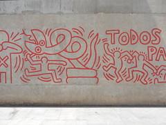 Haring Detail I (aestheticsofcrisis) Tags: street art urban interventions streetart urbanart guerillaart graffiti postgraffiti barcelona spain raval europe keith haring